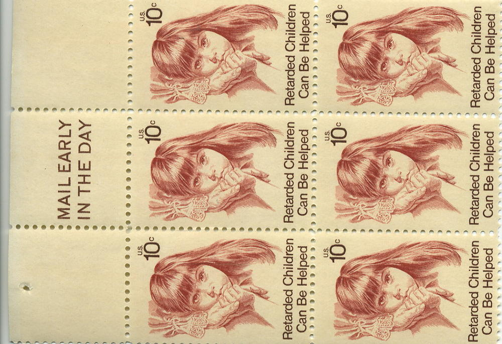 US Scott 1549 Retarded Children Mail Early Block Of 6 M NH HipStamp