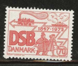 DENMARK  Scott 491 MNH** 1972 DSB railway stamp