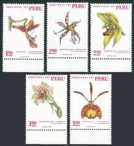 Peru 553-557, MNH. Various Peruvian Orchids, 1971