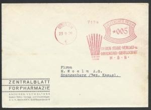GERMANY 1929 cover red meter Berlin, Sieben - pharmaceuticals..............57097