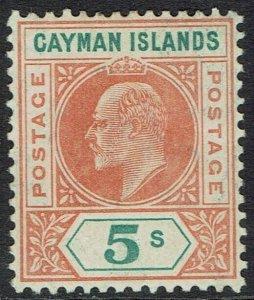 CAYMAN ISLANDS 1907 KEVII 5/-