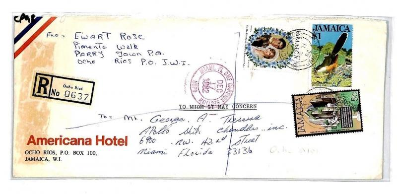 CP98 Jamaica *OCHO RIOS* 1982 Air Mail Cover