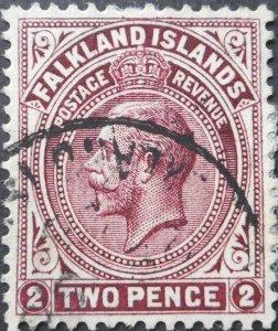 Falkland Islands 1927 GV 2d SG 75b used