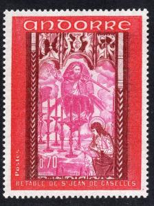 Andorra French  #194  1969   MH   altar - screen