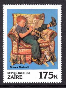 Zaire 1011 Norman Rockwell Painting MNH VF