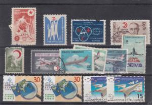 Turkey + Cyprus Stamps ref R 16983