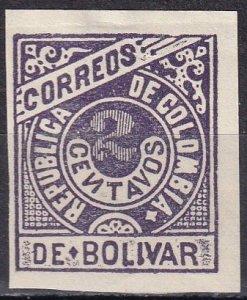 Colombia Bolivar #95   F-VF Unused  CV $2.75  (Z6273)
