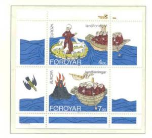 Faroe Islands Sc 265a 1994 Europa St Brendan stamp sheet mint NH