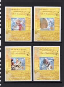 St.Thomas & Principe 2005 In Memoriam Pope John-Paul II/SPACE (9) S/S MNH