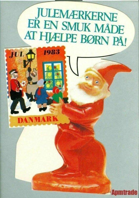 Denmark. Christmas Seal.1983. 1 Post Office,Display,Advertising Sign. Santa Mail