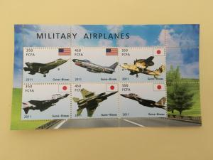 Malawi 2011 M/S Militay Airplanes Transport Aircraft Flight Aviation Stamps (2)