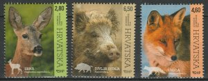 Croatia 2015 Fauna Animals 3 MNH stamps