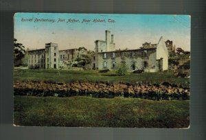 1912 Hobart Tasmania Australia Postcard Cover Port Arthur Prison Penitentiary