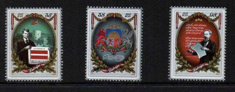 Latvia Sc 770-2 2010 92nd Anniversary stamp set mint NH