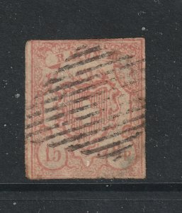 Switzerland an imperf used 15rp from 1850