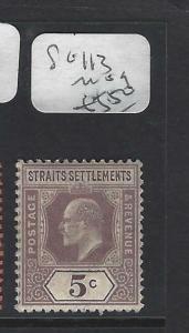 MALAYA STRAITS SETTLEMENTS (P0202B)  KE  5C  SG 113   MOG