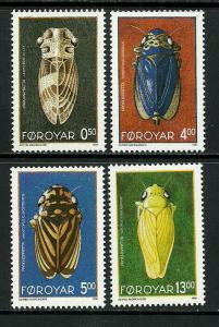 Faroe Is #276-9 MNH Set - Leafhoppers