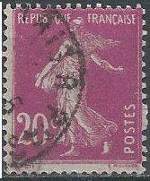 France 167 (used) 20c sower, red violet (1926)