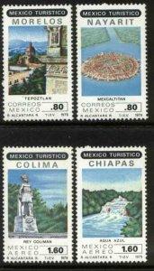 MEXICO 1190-1191, C615-C616, Touristic sites MINT, NH. VF.