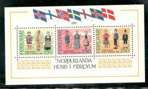 #101 Souvenir sheet - Faroe Islands stamps  -  MNH  -  VF - superfleas