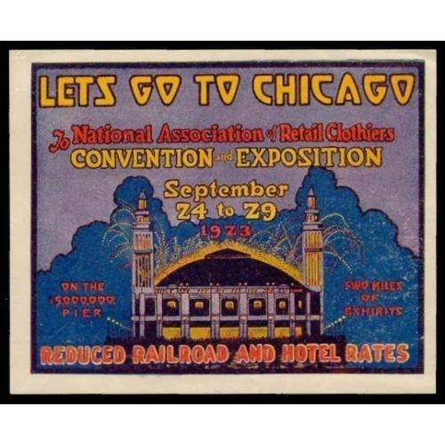 Nat'l Assoc.of Retail Clothiers Expo 1923 Poster Stamp