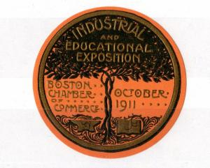 USA 1911 Industrial Exposition Boston Chamber of Commerce Poster Stamp OK94