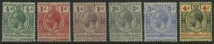 British Solomon Islands KGV 1922-31 1/2d to 4d mint o.g.
