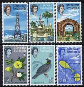 St Kitts-Nevis 1967 Pictorial definitive set of 6 (sidewa...