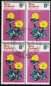 New Zealand. 1972 8c (Block of 4) S.G.985 Fine Used