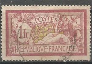 FRANCE, 1900, used 1fr, Liberty, Scott 125