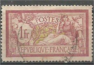 FRANCE, 1900, used 1fr, Liberty, Scott 125