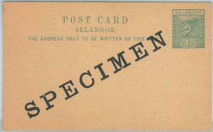 74808 - POSTAL HISTORY - MALAYA Selangor - Postal STATIONERY CARD # 1 - SPECIMEN