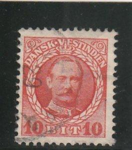 Danish West Indies  Scott#  44  Used  (1908 Frederik VIII)