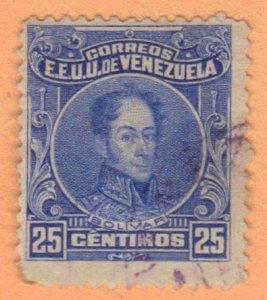 VENEZUELA SC# 263 **USED** 1915-23  25c  SEE SCAN