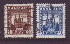 Denmark Sc 159-60 1921 North Schleswig stamps used