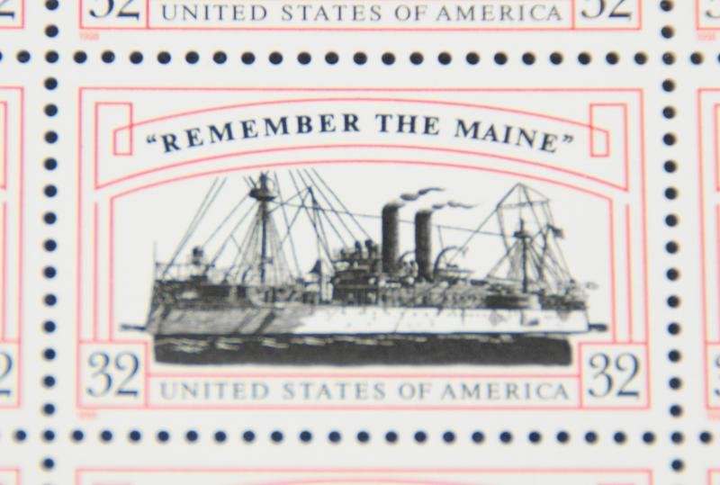 1998 sheet Remember the Maine Sc# 3192