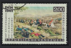 Venezuela 140th Anniversary of Battle of Carabobo Centres 2B 1961 Canc