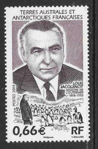 FRENCH SOUTHERN & ANTARCTIC TERRITORIES SG713 2014 LOUIS JACQUINOT MNH