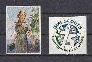United States, Cinderella issue. Girl Scout labels. ^