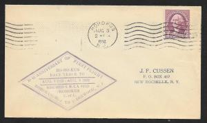 UNITED STATES Event Cover 20th Anniversary First Air Mail 1932 Hohokus