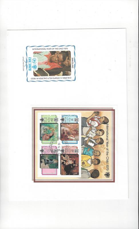 Swaziland FDC 1979 International Year of the Child Official Cachet