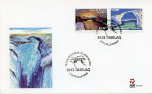 Greenland 2018 FDC Bridges Europa Bridge 2v Set Cover Architecture Stamps