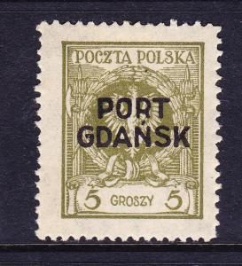 POLAND  1925  5g PORT GDANSK  MLH Sc 1K4