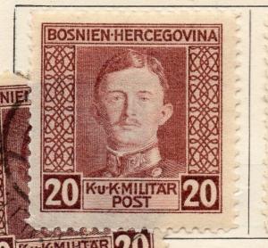 Bosnia Herzegovina 1917 Early Issue Fine Mint Hinged 20h. 248693