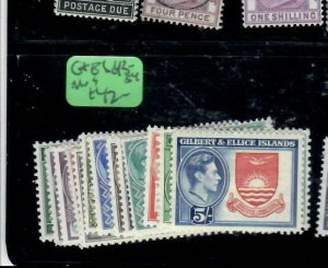 GILBERT & ELLICE ISLANDS (P0708B)  KGVI SET  SG 43-54   MOG