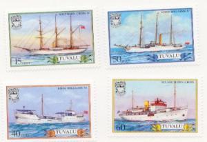 1987 Tuvalu Ships Series 410-13 MNH