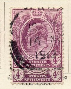 Malacca Straights Settlements 1907-10 Early Issue Fine Used 4c. NW-115550