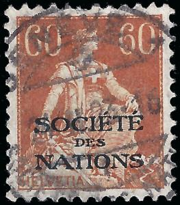 Switzerland 1922 Sc 2o23 League of Nations (SDN) uvf (copy 2)