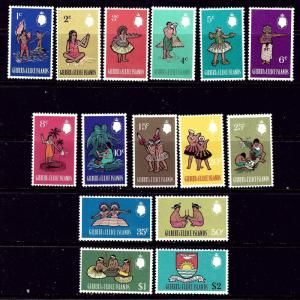 Gilbert and Ellice 135-49 MNH 1968 Definitive Set