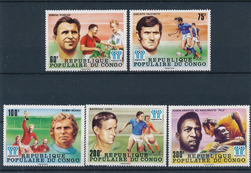 [46514] Congo Brazzaville 1978  World Cup Soccer Football Argentina Pele MNH